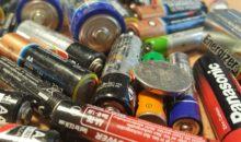Pile of household batteries